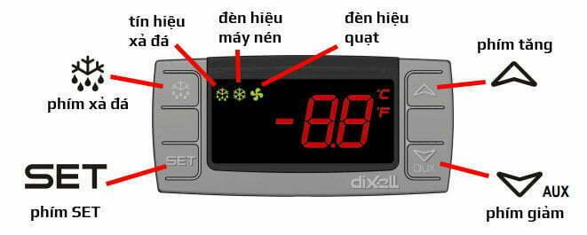 Màn hình bộ điều khiển Dixell XR06CX