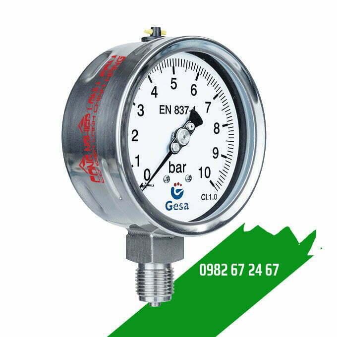 Đồng hồ áp suất thấp Gesa M0306 Φ100R16bar