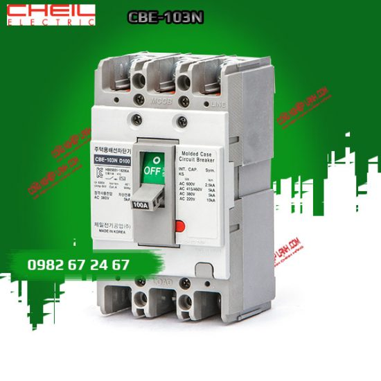 MCCB CHEIL 3 pha CBE-103N