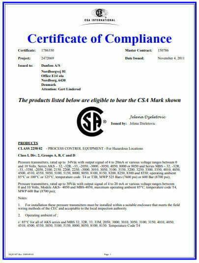 MBS 3000 đạt tiêu chuẩn an toàn