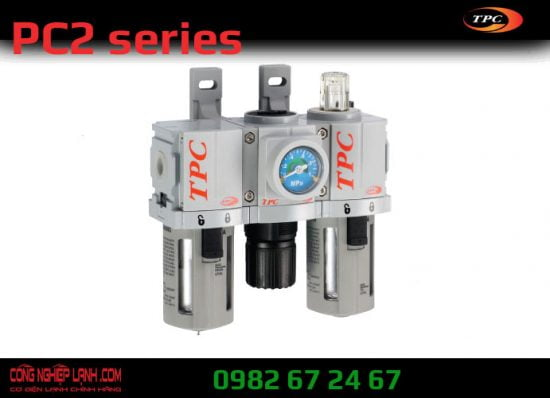 Bộ lọc khí, chỉnh áp, cấp dầu TPC PC2-02DG