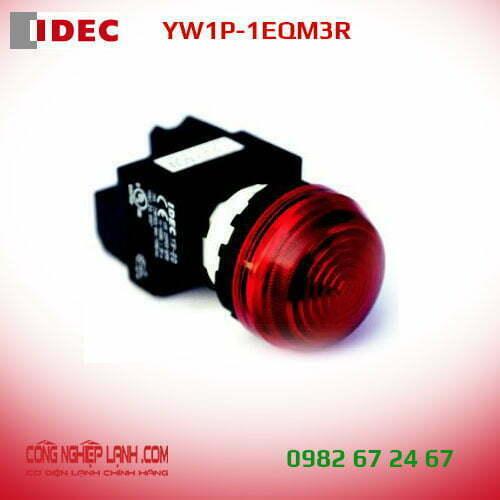 Đèn báo LED IDEC YW1P-1EQM3R màu đỏ - mặt phẳng