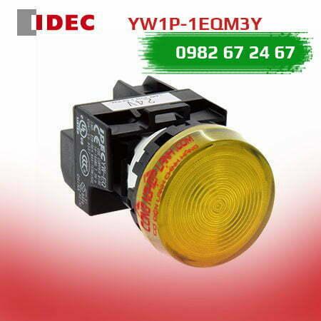 Đèn báo LED IDEC YW1P-1EQM3Y màu vàng - mặt phẳng