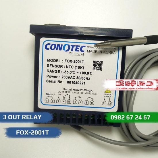 Điều khiển nhiệt độ FOX-2001T 3 ngõ
