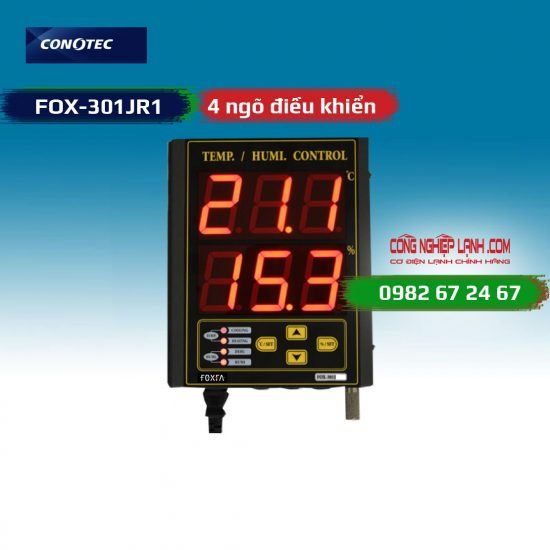 Điều khiển nhiệt độ và độ ẩm FOX-301JR1 4 ngõ