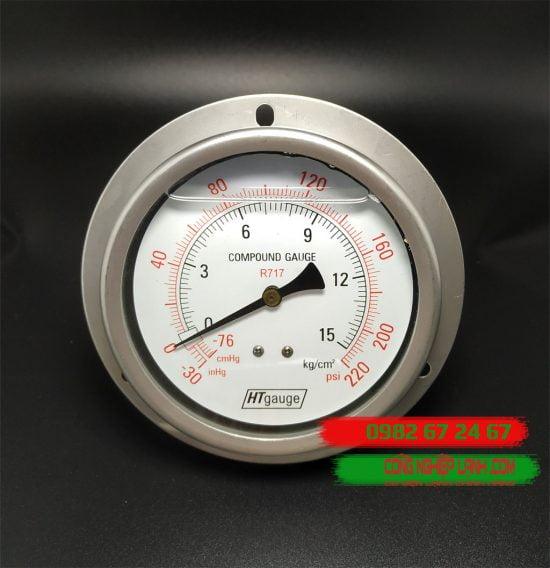 Đồng hồ áp suất HTGauge HT100-15BS Inox