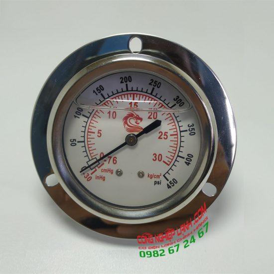 Đồng hồ áp suất VSS 15bar mặt 60mm chân sau