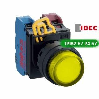 Nút nhấn nhả IDEC YW1L-M2E10QM3Y đèn LED vàng