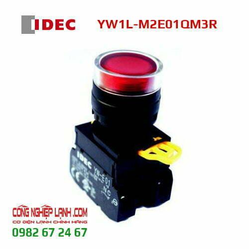 Nút nhấn nhả IDEC YW1L-M2E01QM3R đèn LED đỏ