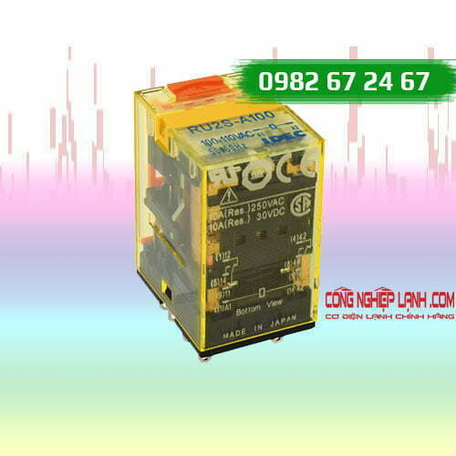 Relay kiếng IDEC RU2S-A24 - 8 chân dẹp - 10A