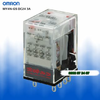Relay kiếng Omron MY4N-GS DC24 3A