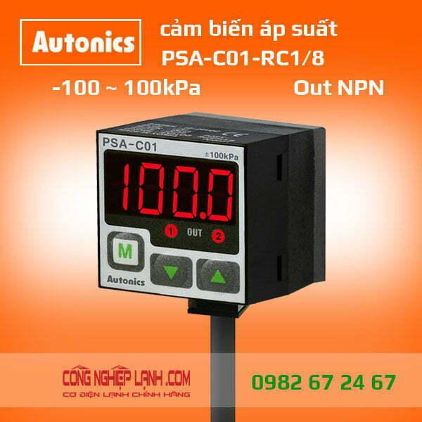 Cảm biến áp suất PSA-C01-RC1/8 - có màn hình hiển thị