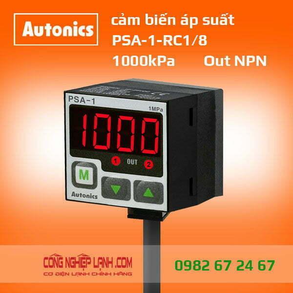 Cảm biến áp suất PSA-1-RC1/8 - có màn hình hiển thị