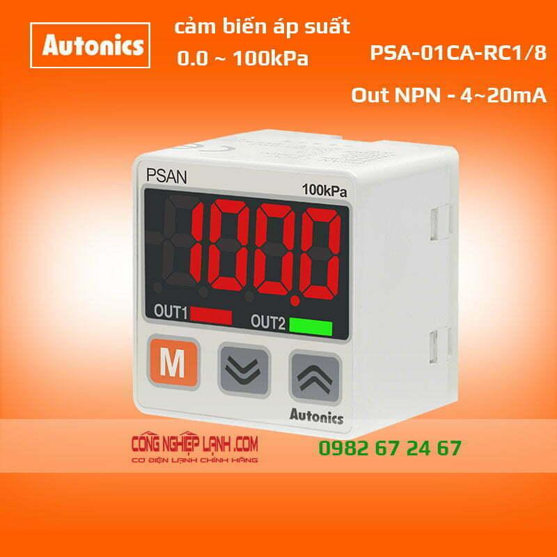 Cảm biến áp suất 0~100kPa, out 4~20mA