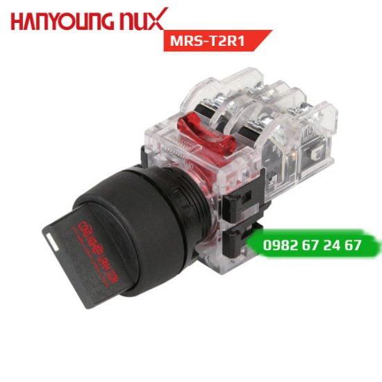 Công tắc xoay Hanyoung MRS-T2R1 - viền nhựa, 2 vị trí