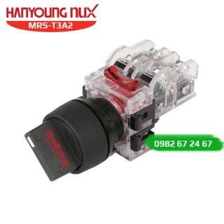 Công tắc xoay Hanyoung MRS-T3A2 - viền nhựa, 3 vị trí