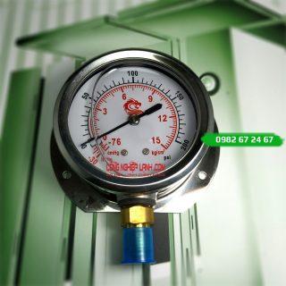 Đồng hồ áp suất VSS 15bar mặt 60mm chân thẳng