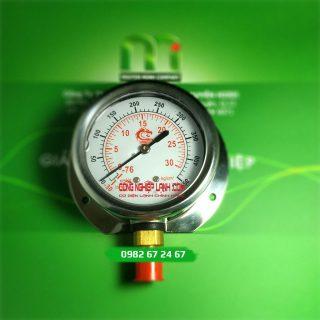 Đồng hồ áp suất VSS 30bar mặt 60mm chân thẳng