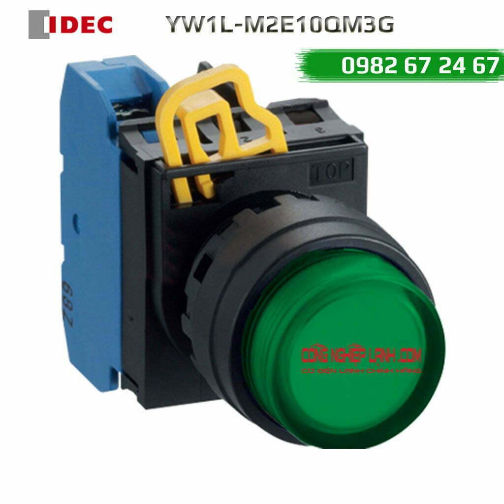 Nút nhấn nhả IDEC YW1L-M2E10QM3G đèn LED xanh