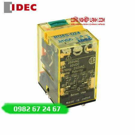 Relay kiếng IDEC RU4S-A220 - 14 chân dẹp - 6A