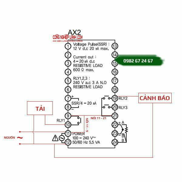 Sơ đồ đấu nối điện AX2-1A
