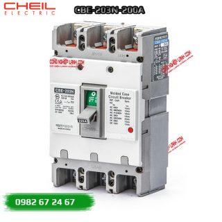 MCCB (aptomat) 3 pha CBE-203N-200A